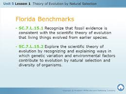 unit 5 lesson 1 theory of evolution by natural selection ppt