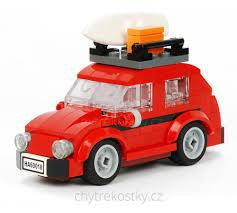 lego volkswagen mini replika volkswagen vw brouk mini červená barva moc lego creator 40252
