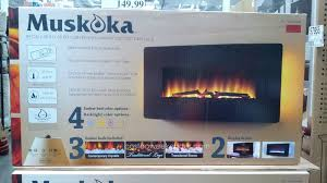muskoka curved wall mount electric fireplace costco u2013 turner