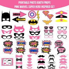 instant download pink marvel super hero inspired printable