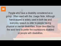 Blind Sighted Synonym Who Are The Handicapped Youtube