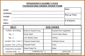 4 food order form template weekly agenda planner