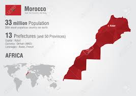 Morocco Africa Map by Morocco World Map With A Pixel Diamond Texture World Geography