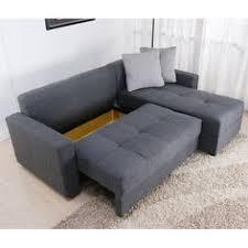 Abbyson Living Bedford Gray Linen Convertible Sleeper Sectional Sofa Abbyson Bedford Gray Linen Convertible Sleeper Sectional Sofa By