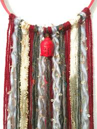 red and grey buddha wall hanging boho wall hanging hippie home