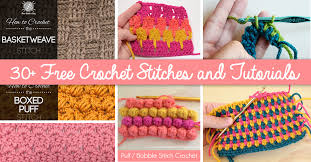 how to crochet 30 free crochet stitches and tutorials u2013 cute diy