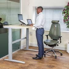 deskrite 500 sit stand right corner desk from posturite