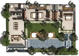 villa floor plans 3 bed pool villa floor plan chandra bali villas