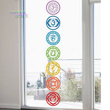 Yoga Home Decor by Aliexpress Com Buy 19x19cm 7pcs Set Chakras Vinyl Wall Stickers