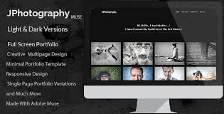 free muse template jphotography minimal photography portfolio muse template