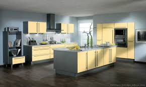 Yellow Kitchen Walls With Oak Cabinets by Grey Yellow Kitchen Crowdbuild For