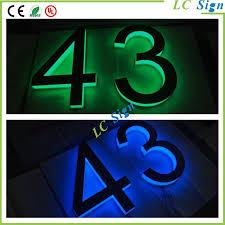 Lighted House Number Sign Digital House Number Digital House Number Suppliers And