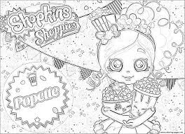 shopkins popette official coloring pages printable