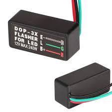 universal motorcycle led halogen turn signal light flasher relay