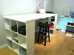 counter height desk with storage craft table with storage craft table with storage counter height