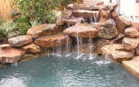 rock waterfalls for pools powerful rock waterfalls 5 this swimming pool fountains www