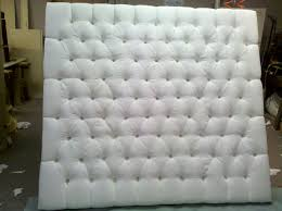 Design For Tufted Upholstered Headboards Ideas King Size Tufted Upholstered Headboard With White Color