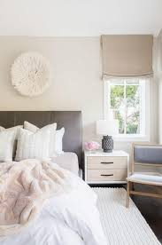 Gray White Bedroom Interior Design Inspiration With Light Pink And White Accents