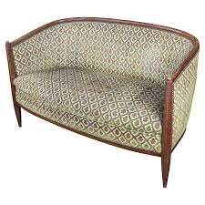 Curved Back Sofas French Art Deco Settee With Curved Back For Sale At 1stdibs