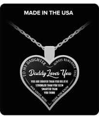 ebay necklace heart images To my daughter necklace daddy loves you silver heart necklace png