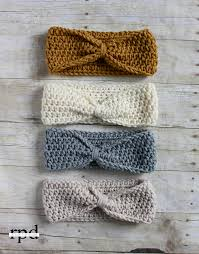 crochet headbands knotted headband crochet pattern sizes headband