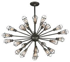 Chandelier Lighting Fixtures by Troy F3816 Conduit Old Silver Finish 25 5
