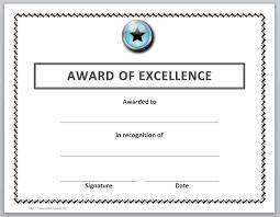 certificate word award certificate template