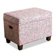 Homepop Storage Ottoman Homepop Medium Storage Ottoman In Multicolor Bed Bath Beyond