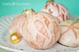 coastal mod podge diy ornaments