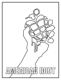 green coloring page american idiot coloring page by kelly42fox on deviantart