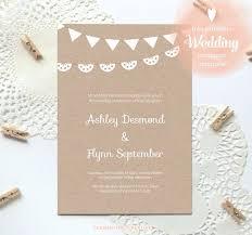 wedding invitations kraft paper free printable wedding invitation template kraft paper just