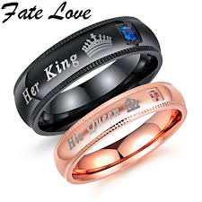 love promise rings images Us 9 48 fate love engagement promise ring bands her king and jpg