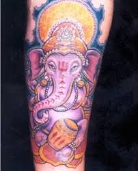 colorfull ganesh hindu elephant tattoo tattoo ideas pictures