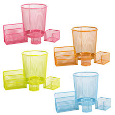 Office Desk Tidy Metal Mesh Bin Office Set Desk Organiser Stationery Tidy Letter