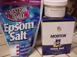 epsom salt vs table salt what is difference between epsom salts and table salt table salt