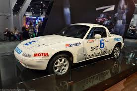 japanese street race cars live from the 2014 sema show the very first mazda mx 5 race car
