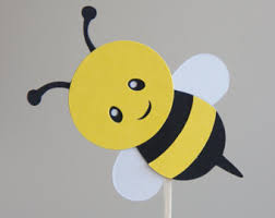 bumble bee cake toppers bee cupcake topper etsy