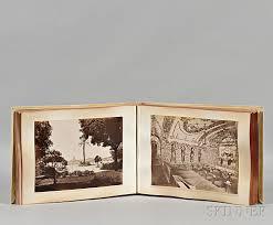 italy photo album italian photo album grand tour 19th century sale number 2819t