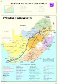 Port Elizabeth South Africa Map by South African Railway Maps