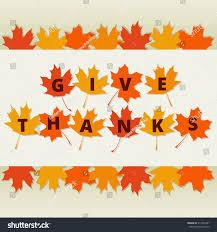 thanksgiving greetings card autumn leaves border stock vector