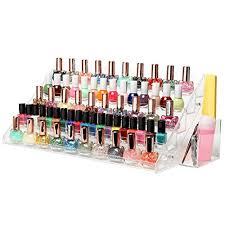 60 bottle professional clear acrylic nail polish rack tabletop