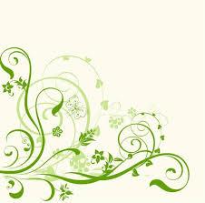 green swirls ornament on white background millions vectors
