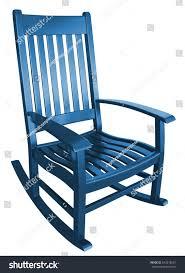Modern Wooden Rocking Chair Navy Blue Rocking Chair Facing Left Stock Photo 443218261