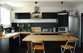 cuisine noir bois cuisine noir mat et bois impressionnant photos cuisine noir mat ikea