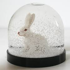 snowglobe white rabbit by bonnie and bell notonthehighstreet