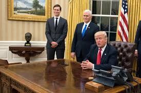 president obama in the oval office bust of winston churchill removed by obama is back in the oval