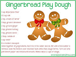 printable playdough recipes gingerbread play dough recipe free printable dough recipe play