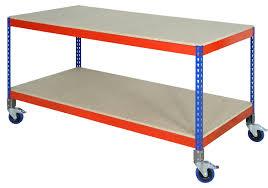 ref u0027rrmb u0027 range mobile workbench 50kg per shelf plastic
