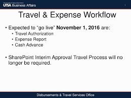 Expense Report Process by Travel U0026 Expense Workflow Ppt Download