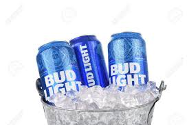 bud light beer can irvine california august 25 2016 bud light cans in ice bucket
